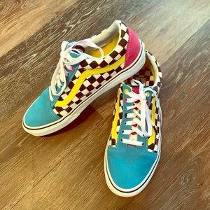 Multicolored Checkered Old Skool Vans
